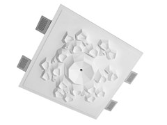 Rosone decorativo in Cristaly®MATERIA - BELFIORE