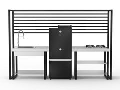 Cucina da esterno modulare con affumicatore e piano cotturaMAUNA KEA - DEIMOS