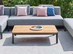 Tavolino basso da giardino in alluminio e legnoMAUROO   Tavolino da giardino - JARDINICO