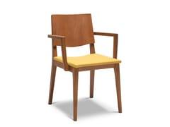 Sedia in faggio con braccioli MAXIM 167 - Maxim