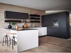 Cucina componibile laccata con penisola in melaminico MAXIMA 2.2 - COMPOSIZIONE 8 - Maxima 2.2