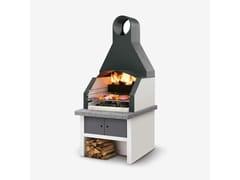 Barbecue a carbonella a legna in cementoMAXIME CAPPA INOX - PALAZZETTI LELIO