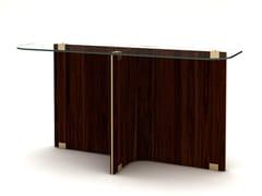 Consolle rettangolare in legno e vetro MAXIME | Consolle - Maxime