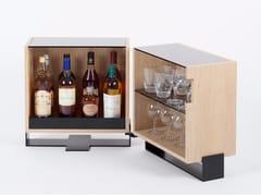 Tavolino / mobile bar in multistratoMAYET | Mobile bar - ALEX DE ROUVRAY DESIGN