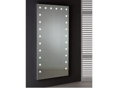 Specchio rettangolare in alluminio anodizzato da parete con illuminazione integrataMDE 516 - CANTONI TRADING