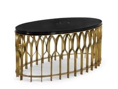 Tavolino ovale in metallo da salottoMECCA II   Tavolino - BRABBU DESIGN FORCES