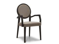 Sedia a medaglione imbottita con braccioli MEDAILLON 193 - Medaillon