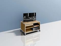 Mobile TV basso in metallo con ruoteMEDIA 01 - USM