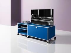 Mobile TV basso in metallo con ruoteMEDIA 04 - USM