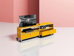Mobile TV basso in metallo con cassetti con ruoteMEDIA 06 - USM