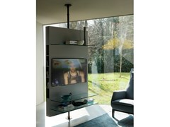 Mobile TV girevole con sistema passacaviMEDIA CENTRE | Mobile TV girevole - PORADA