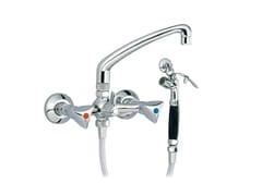 Miscelatore per lavabo a 2 fori a muro con doccetta MEDICO   Miscelatore per lavabo con doccetta - MEDICO