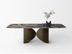 Tavolo rettangolare con piano in vetroMEET LIMITED EDITION - LAGO