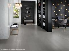 Pavimento in gres porcellanato effetto cemento e metallo MEK FLOOR - Mek