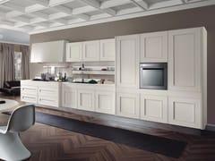 Cucina laccata lineare in legno impiallacciato senza maniglieMELOGRANO M.TRE - COMPOSIT