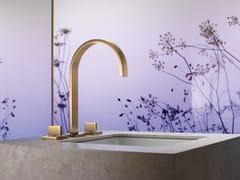 Rubinetto per lavabo a 3 fori da piano con rosette separateMEM | Rubinetto per lavabo con rosette separate - DORNBRACHT