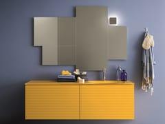 Mobile lavabo laccato con cassetti MEMENTO COMP. 5 - Memento