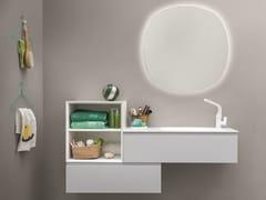 Mobile lavabo laccato sospeso MEMENTO COMP. 4 - Memento