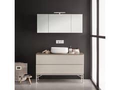 Mobile lavabo laccato con cassetti MEMENTO COMP. 6 - Memento
