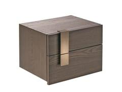 Comodino rettangolare in legno con cassettiMESH | Comodino - SHAKE