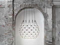 Lampada a sospensione a LED in policarbonato e acciaioMESH | Lampada a sospensione - LUCEPLAN