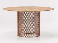 Tavolo da giardino da pranzo in teakMESH | Tavolo in teak - KETTAL