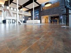 APAVISA, METAL Pavimento/rivestimento in gres porcellanato tecnico effetto metallo