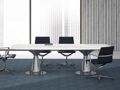 Tavolo da riunione rettangolare in vetroceramicaMETAR | Tavolo da riunione - BRALCO