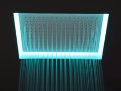 Soffione doccia da incasso in acciaio inox con cromoterapia METEO -