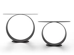 Tavolino rotondo in acciaioMETODO - MDF ITALIA