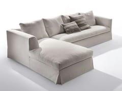 Divano in tessuto con chaise longue METRO | Divano con chaise longue - Metro
