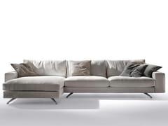 Divano in tessuto con chaise longue METROPOLI | Divano con chaise longue - Metropoli