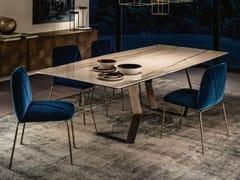 Tavolo da pranzo con base in metalloMEXA - APP DESIGN