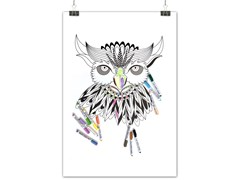 Lavagnetta magneticaMEXICAN OWL - GROOVY MAGNETS