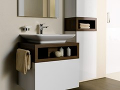 Mobile lavabo singolo sospeso in legno MH | Mobile lavabo in legno - MH