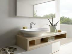Mobile lavabo singolo sospeso in quercia MH | Mobile lavabo - MH