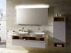 Mobile lavabo doppio sospeso in legno MH | Mobile lavabo doppio - MH