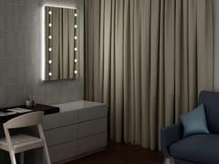 Specchio in alluminio in stile moderno da parete con cornice con illuminazione integrataMH03 - CANTONI TRADING