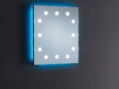 UNICA by Cantoni, MH06 Specchio quadrato in alluminio anodizzato da parete con illuminazione integrata
