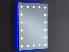 UNICA by Cantoni, MH08.V Specchio rettangolare in alluminio anodizzato da parete con illuminazione integrata