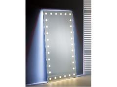 Specchio da appoggio rettangolare in alluminio anodizzato con illuminazione integrataMH09.V | Specchio da appoggio - CANTONI TRADING
