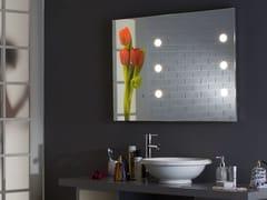 Specchio rettangolare in alluminio anodizzato da parete con illuminazione integrataMH10 - CANTONI TRADING
