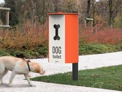 City Design, MIANE DOG Portarifiuti in acciaio verniciato a polvere con coperchio per deiezioni canine