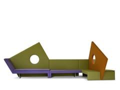 Divano componibile modulare in tessuto in stile moderno con schienale altoMICROMEGA D11+BK2+DD9 | Divano componibile - ADRENALINA