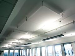 Pannello acustico a soffitto o a parete in PVCBARRISOL® MICROSORBER | Isole acustiche - BARRISOL-NORMALU
