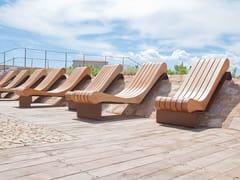 Seduta da esterni in acciaio e legnoMIGRATION | Seduta da esterni in acciaio e legno - CYRIA