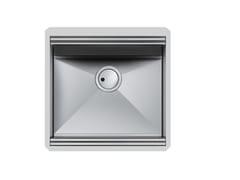 Lavello a una vasca sottotop in acciaio inoxMILANELLO 430X374 S/TOP - FOSTER
