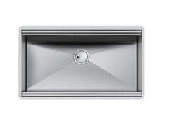 Lavello a una vasca sottotop in acciaio inoxMILANELLO 750X374 S/TOP - FOSTER