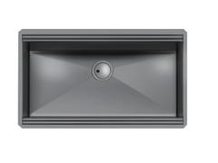 Lavello a una vasca sottotop in acciaio inoxMILANELLO 750X374 S/TOP GUNMETAL - FOSTER