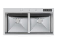Lavello a 2 vasche filo top in acciaio inoxMILANO 2V 46X40 FT C/Prtclt - FOSTER